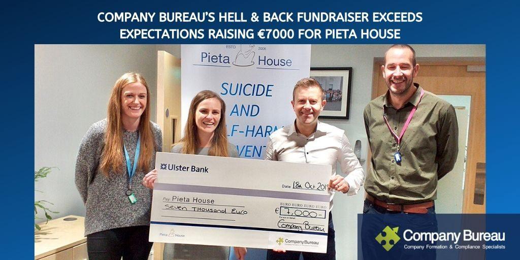 Company Bureau raise €7000 for Pieta House