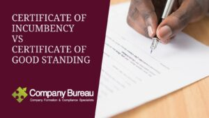 Certificate of Incumbency and Letter of Status